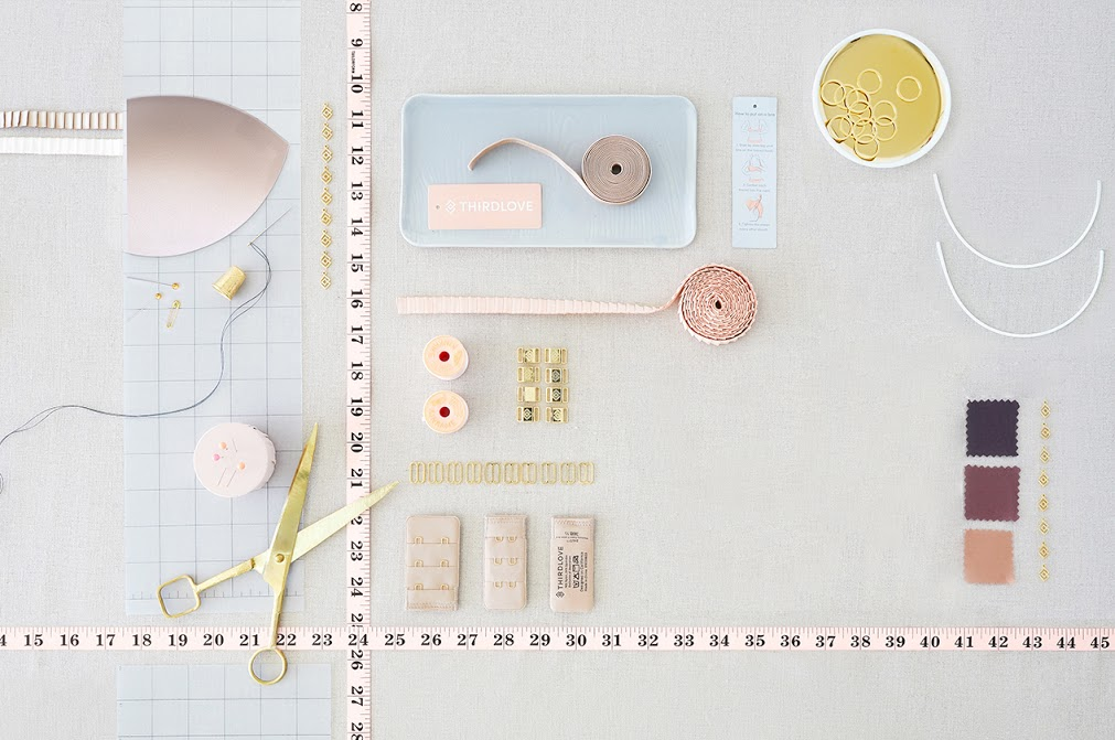 There are different parts and design elements that go into making a bra.