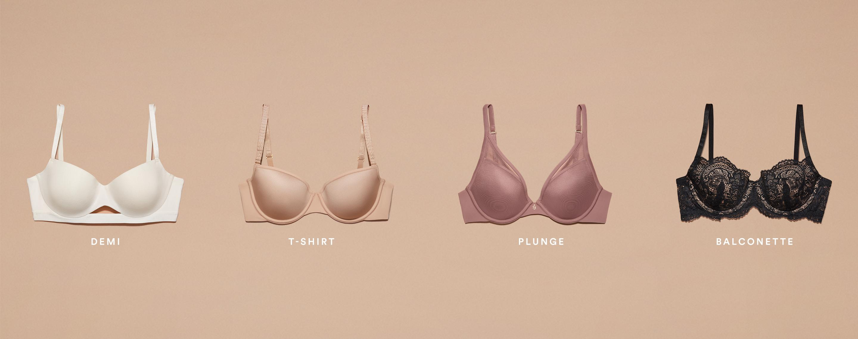 How to tell the difference between different types of bras.