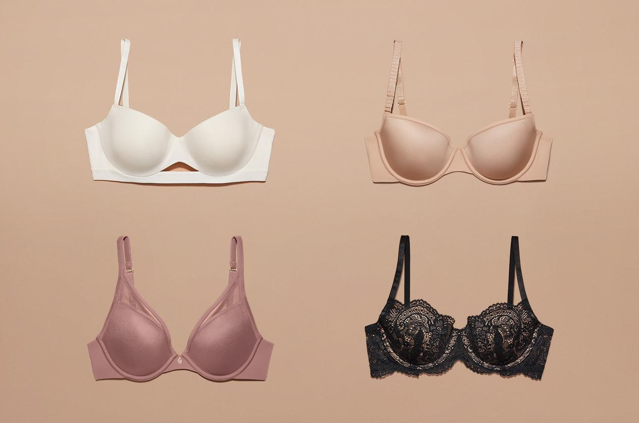 How to tell the difference between different bras types.